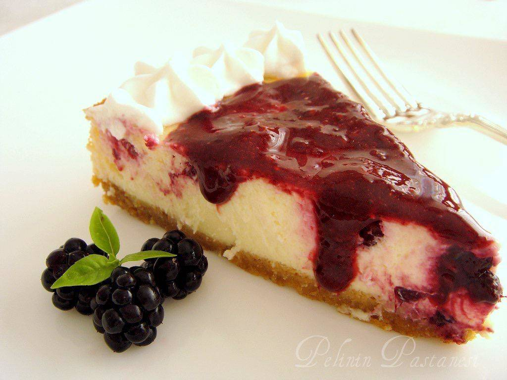 böğürtlenli-cheesecake