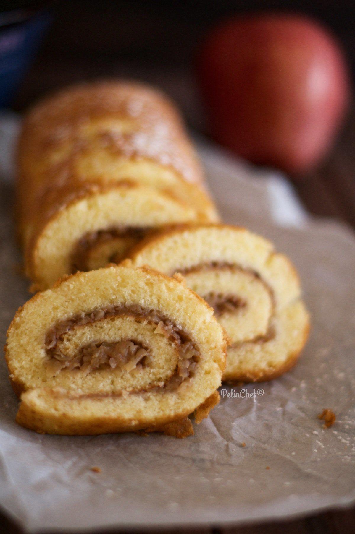 rulo elmalı kek-1