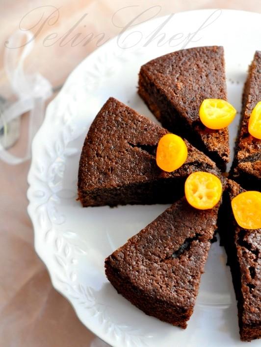 portakallı kakaolu kek